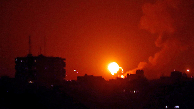 An IDF strike on Gaza (Photo: Reuters) (Photo: Reuters)