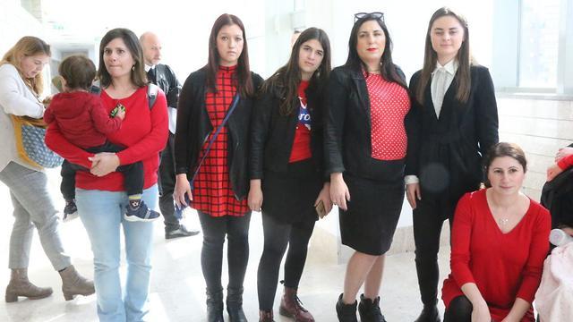 Подруги Дорины Винта в суде. Фото: Моти Кимхи