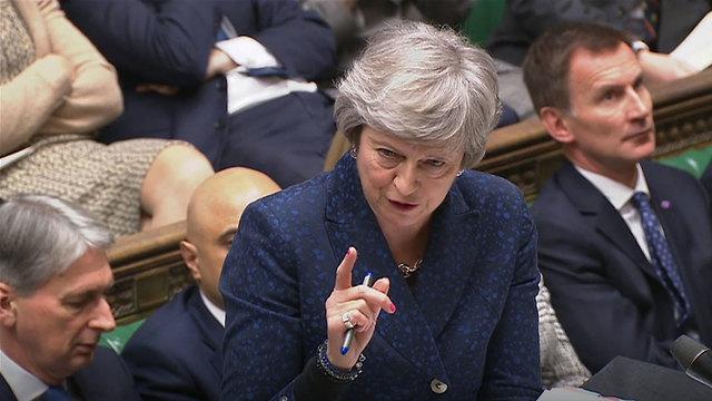 ברקזיט ראש ממשלת בריטניה תרזה מיי נאום ב פרלמנט (צילום: MCT)
