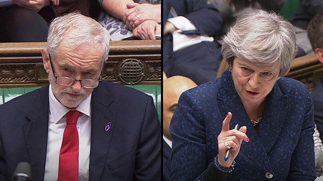 Jeremy Corbyn; Theresa May (Photo: MCT)