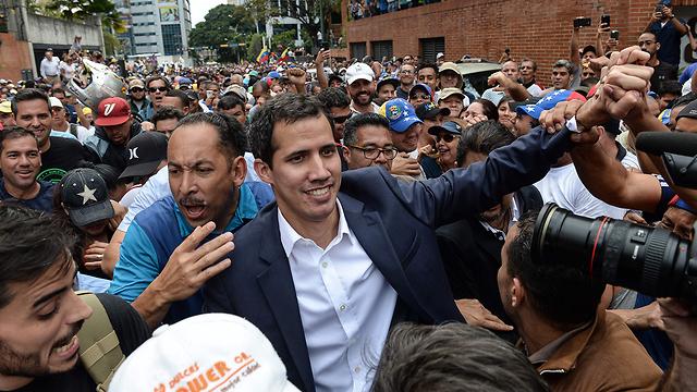 Venezuelan opposition leader Juan Guaido during a protest in Caracas (Photo: AFP)