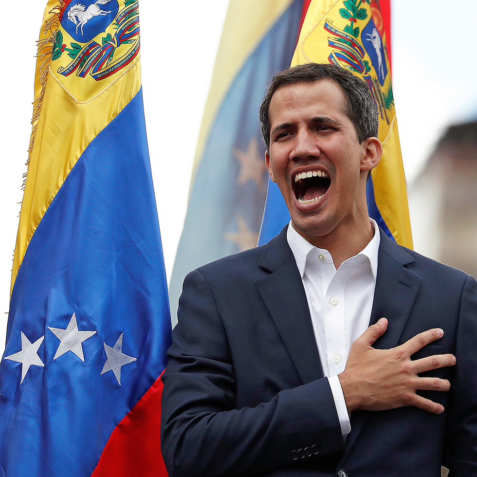 Venezuelan opposition leader Juan Guaido during a protest in Caracas (Photo: Reuters)