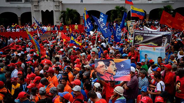 A support rally in Caracas for Venezuelan President Nicolas Maduro (Photo: AFP)