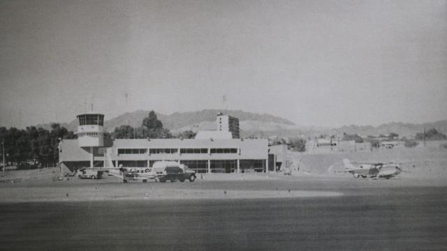 נמל התעופה באילת, 1950 (צילום מתוך אלבומי רשות שדות התעופה)