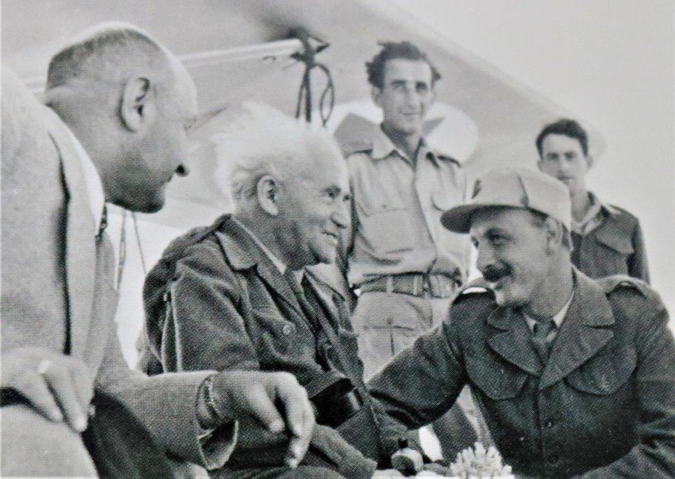 David Ben-Gurion (center) in 1950 (Photo: Courtesy)
