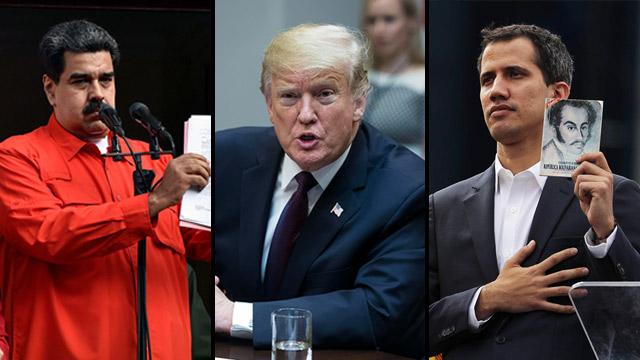 Venezuelan President Maduro, US President Trump and Venezuelan opposition leader Guaido (Photo: EPA, AFP)