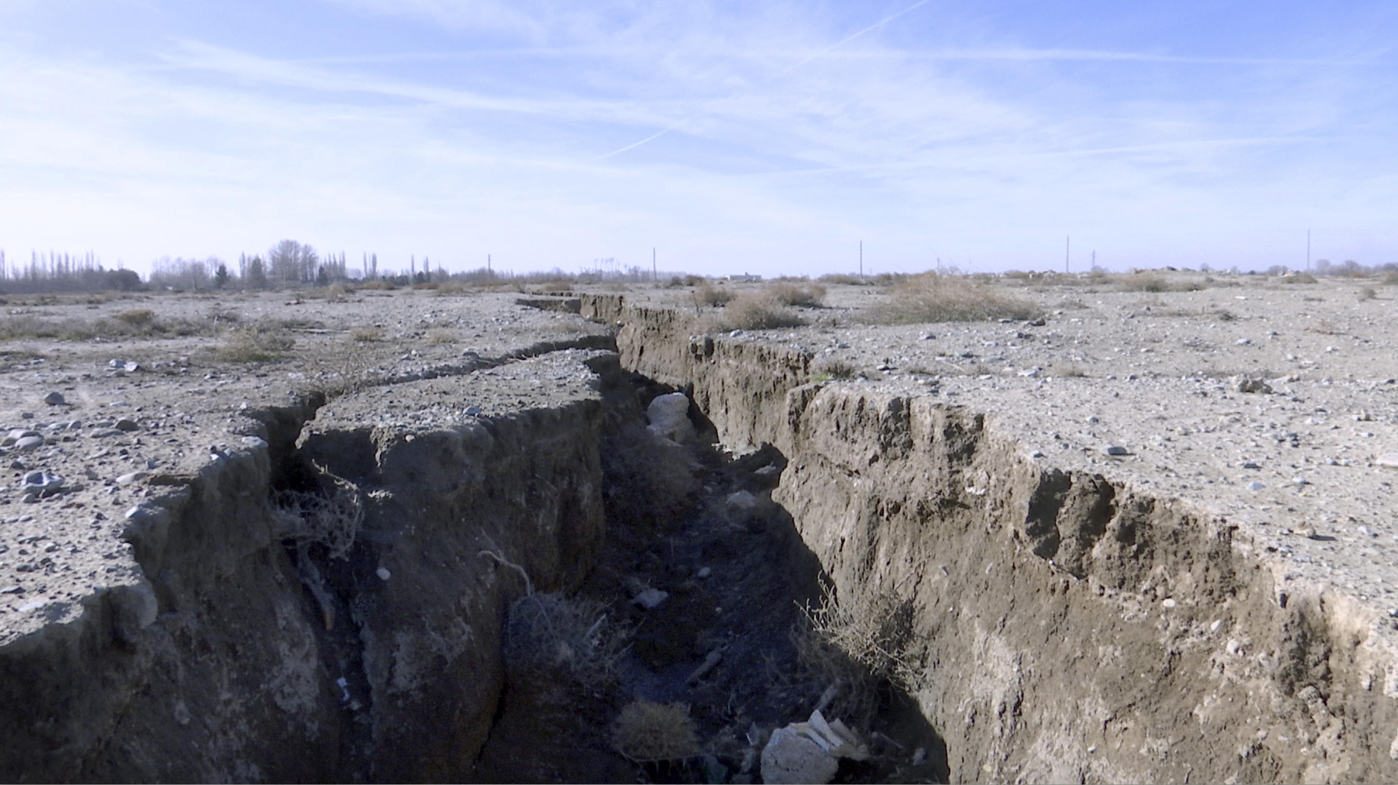 Massive holes caused by drought and excessive water pumping in Iran, August 8, 2018