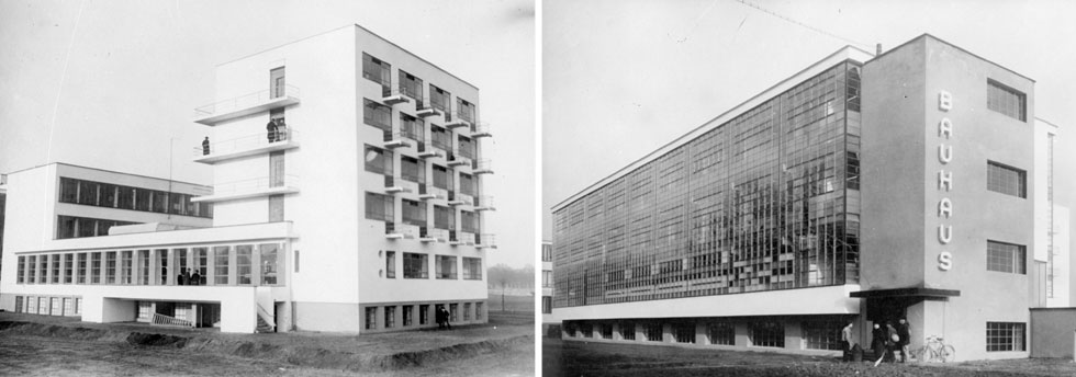 האייקון של הבאוהאוס: בית הספר בדסאו, שתכנן המייסד ולטר גרופיוס (צילום: Hulton Archive/GettyimagesIL)