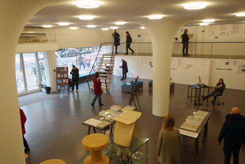 מרכז המבקרים והחנות בברלין, עד שייפתח מחדש הארכיון הגדול (צילום: מיכאל יעקובסון)