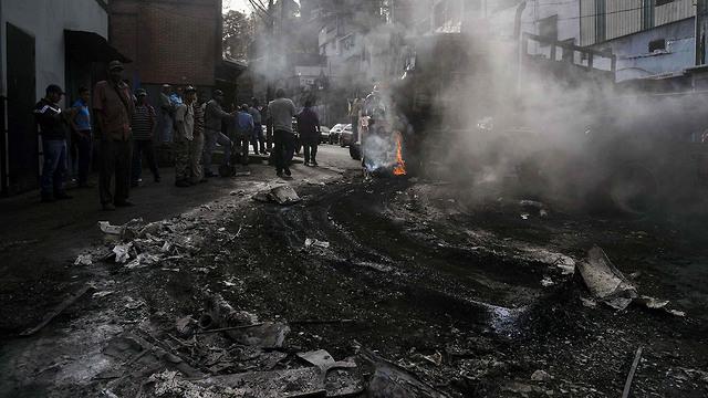 נזקי העימותים בוונצואלה (צילום: AFP)