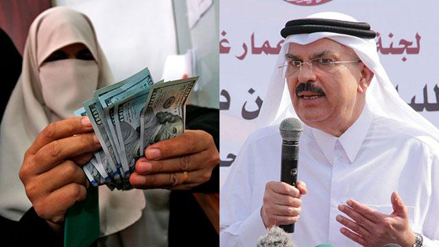 מוחמד אל עמאדי קטאר כסף סיוע הומניטרי ( צילום: AFP )