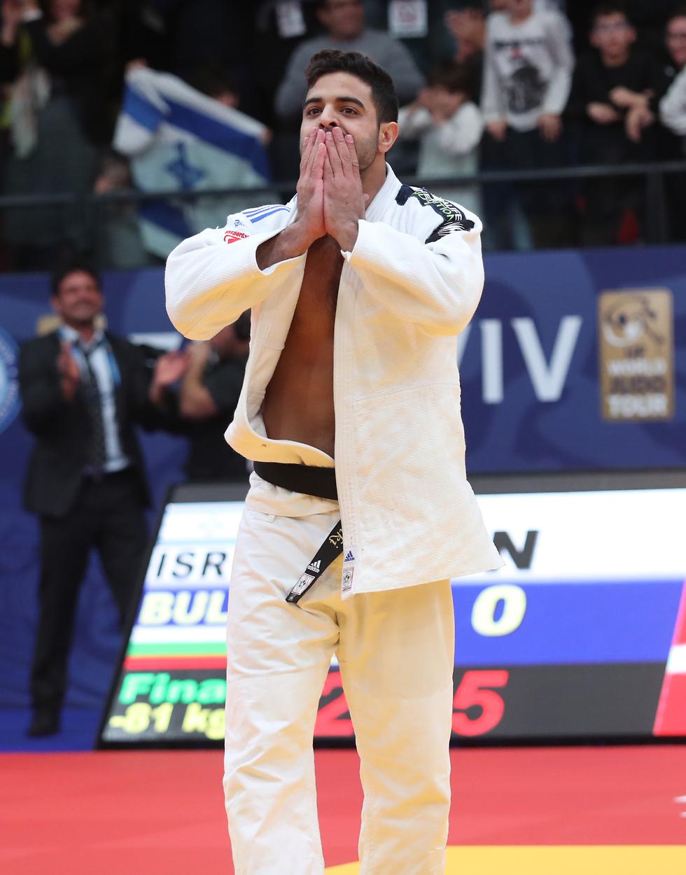Israeli Judoka Sagi Muki (Photo: Oren Aharoni)