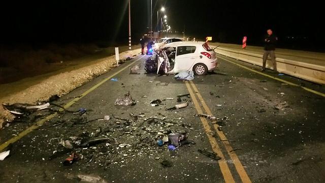 זירת התאונה (צילום: מאיר אוחיון)