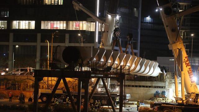 Строительство моста Йегудит в Тель-Авиве. Фото: Моти Кимхи