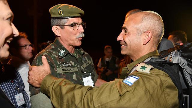 The Israeli delegation in Brazil (Photo: IDF Spokesperson's Unit)