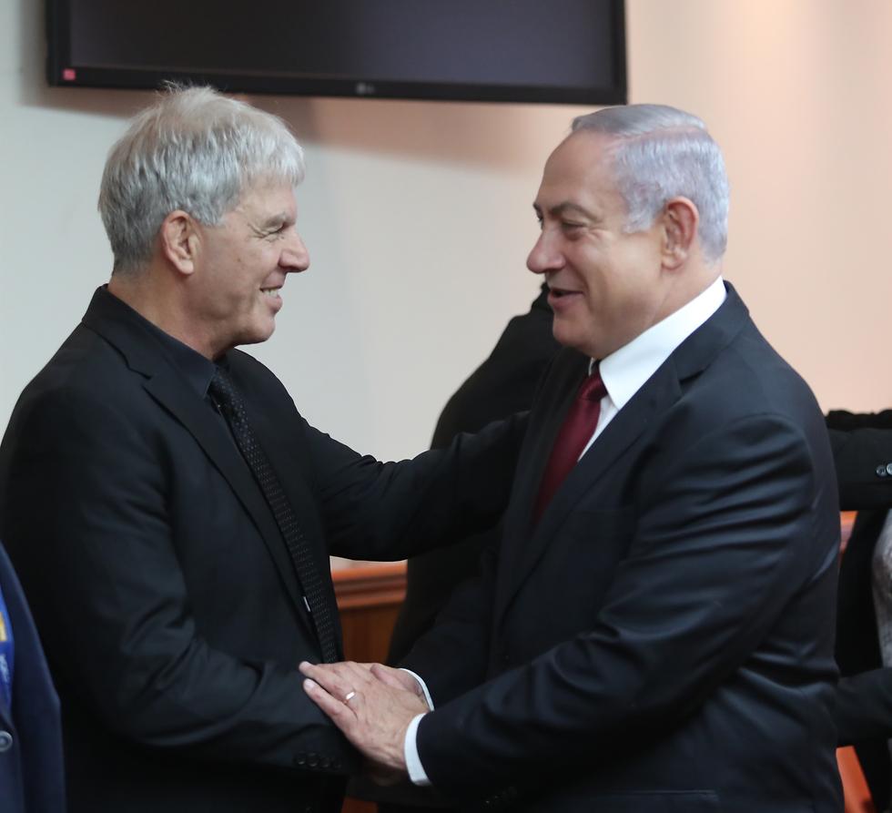 משה פונטי במפגש הספורטאים עם ראש הממשלה (צילום: אורן אהרוני)