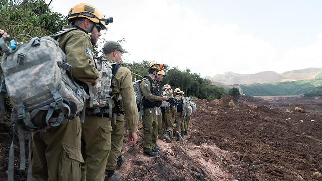 IDF troops assist Brazil's search and rescue efforts at site of dam collapse (Photo: IDF Spokesperson's Unit)
