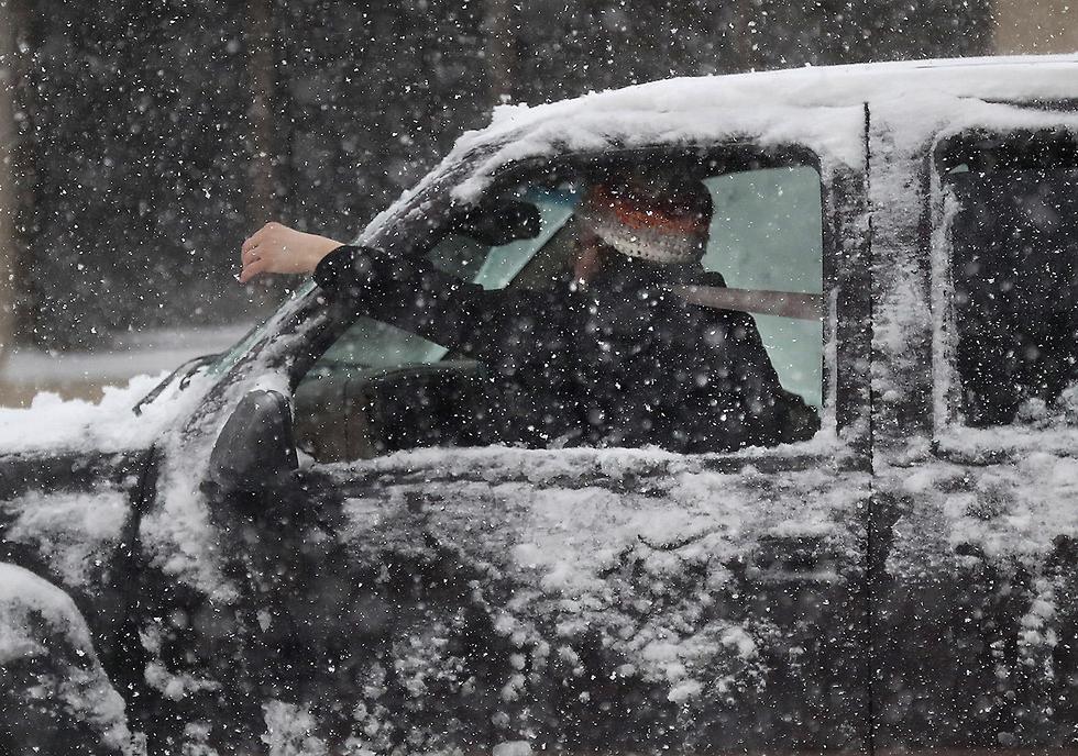 גל קור שלג ברד ארה