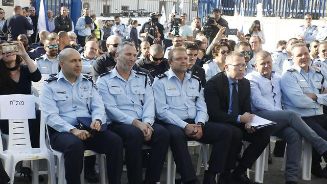 The inauguration of a police station in Kafr Qassem (Photo: Shaul Golan)