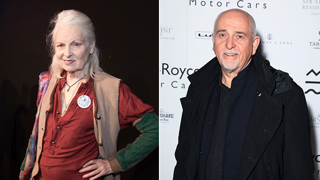 Fashion designer Vivienne Westwood and singer Peter Gabriel (Photo: AP)