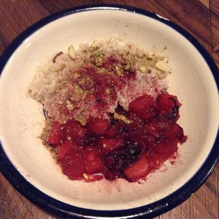 Rice pudding with apple compote (Photo: Buzzy Gordon)