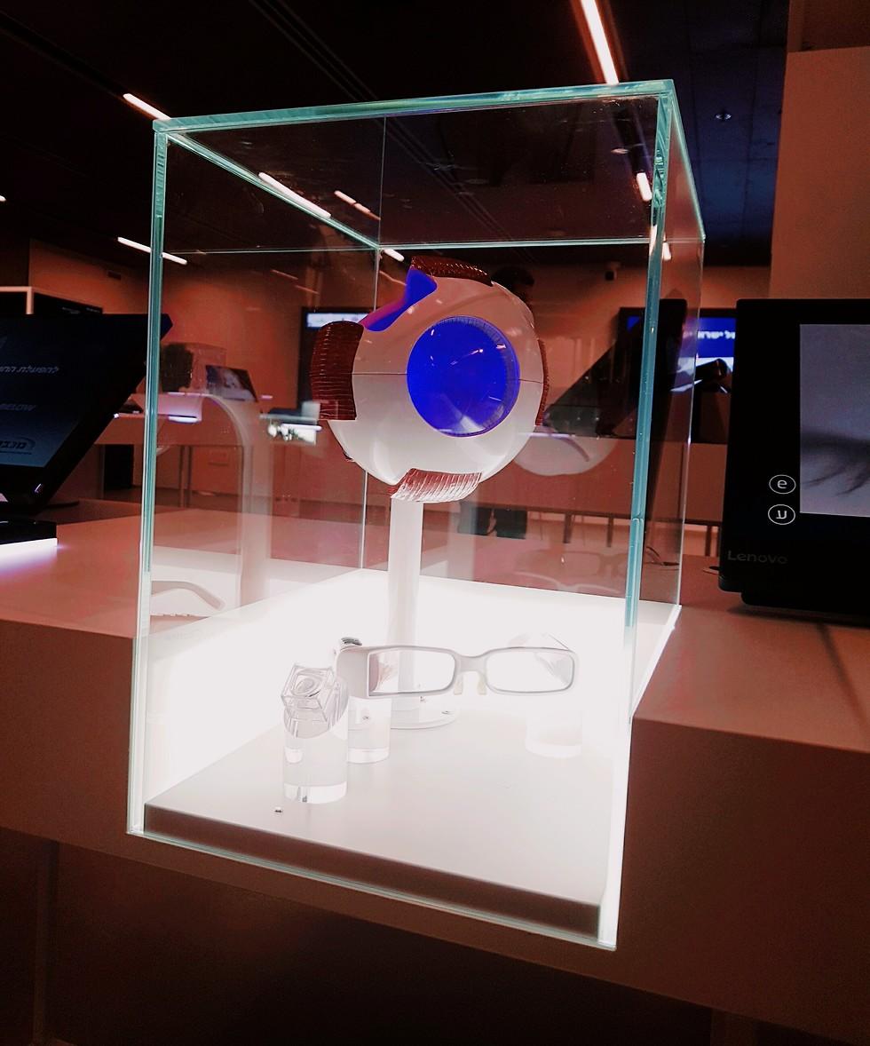 הפיתוח של חברת Nano Retina להשבת הראייה באמצעות משקפיים חכמים ושתל תוך-עיני (צילום: מיכל מרגלית)