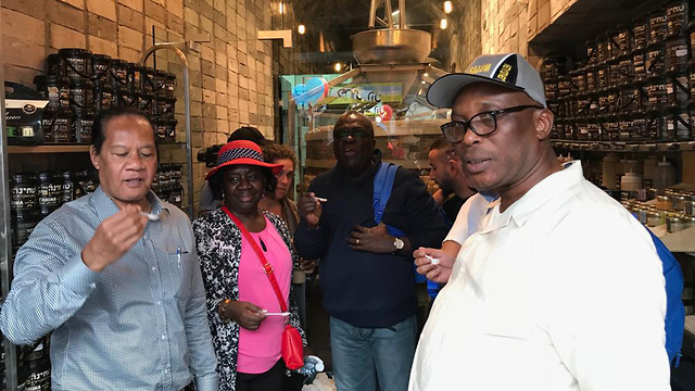 Adikalie Foday Sumah with other ambassadors on his visit to Israel