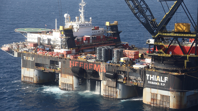The Levaithan gas field, west of Isrel's northern port city of Haifa (Photo: EPA)