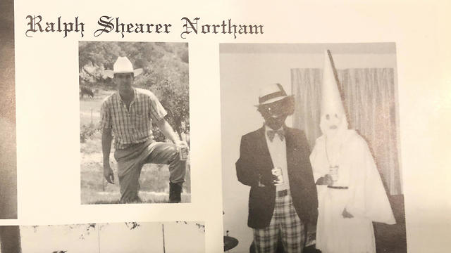 Virginia's Governor Ralph Northam dressed in a KKK costume (Photo: AP)