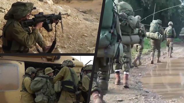 Paratroopers' Brigade training exercise on Lebanon border  (Photo: IDF Spokesmans unit)