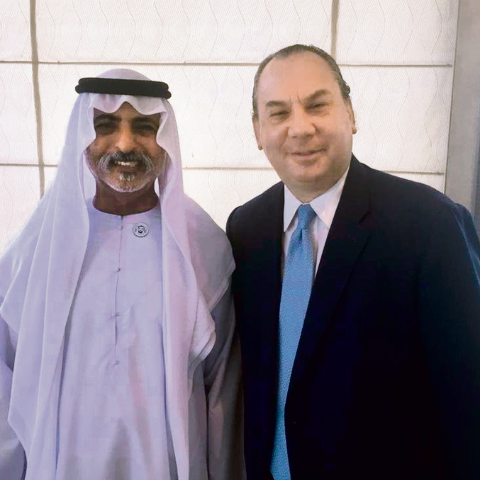 UAE Minister of Tolerance Nahyan bin Mubarak Al Nahyan with Rabbi Marc Schneier
