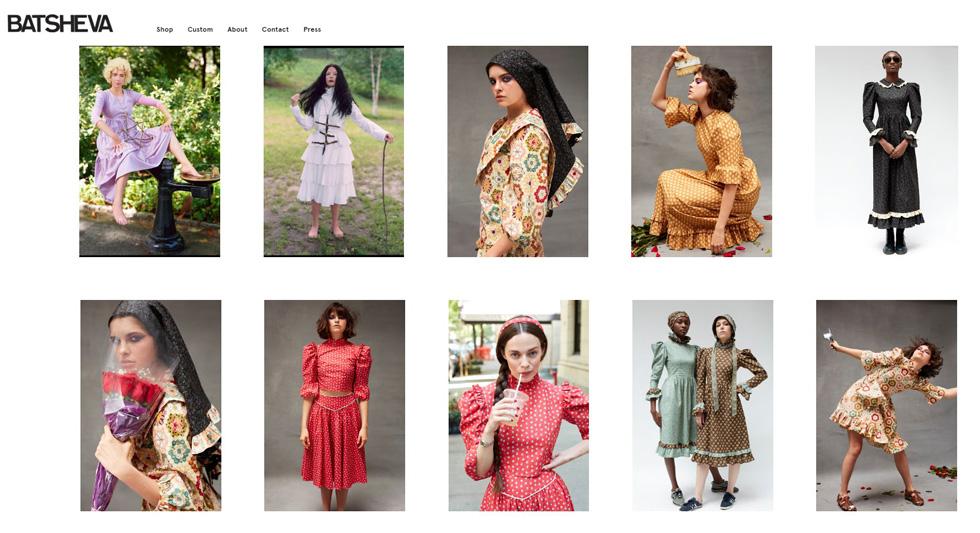 Снимок c экрана сайта batsheva.com