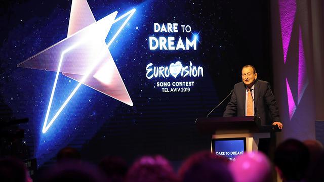 Tel Aviv Mayor Ron Huldai at Eurovision event