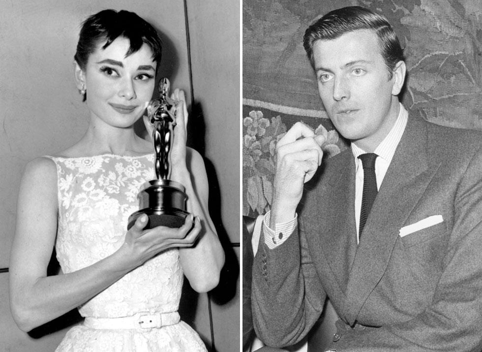 עיצב את התלבושות שלה בכל הסרטים שבהם השתתפה משנת 1953 ועד שנת 1979. הובר דה ז'יבנשי ואודרי הפבורן (צילום: AP)