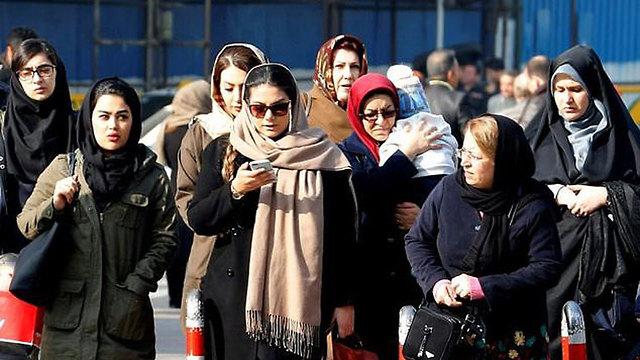 נשים איראניות איראן המהפכה האיסלאמית (צילום:  AFP)
