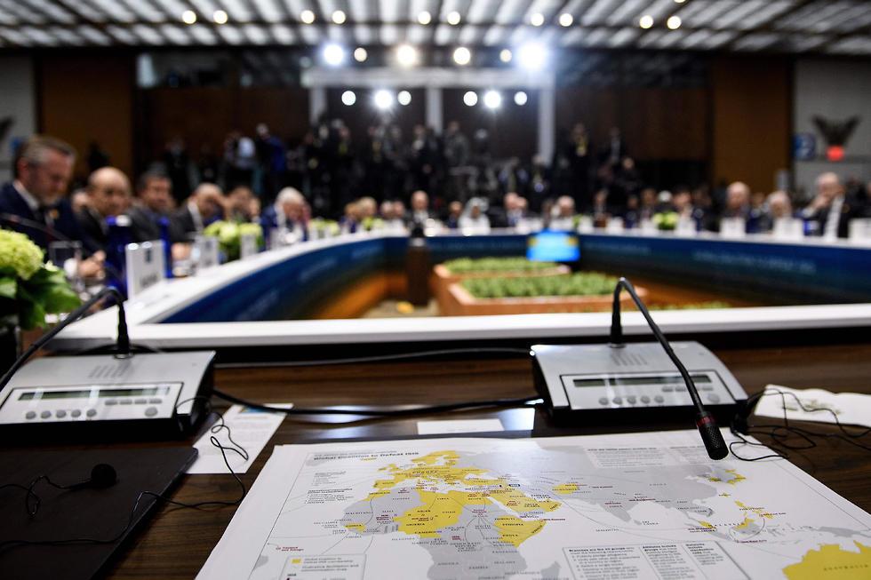 כנס הקואליציה נגד דאעש (צילום: AFP)