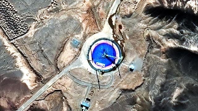 צילום לוויין שיגור איראן חלל טיל (AP)