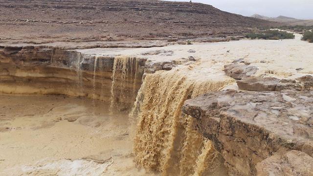 Yelek water holes in the Negev Desert (Photo: Tzur Netzer, Parks Authority)