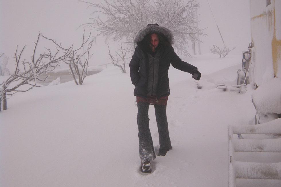 היישוב נמרוד לובש לבן. עם כל הכבוד לסורים, לאיראנים, לחיזבאללה ולתיירי השלג הנחושים, האיום הגדול ביותר כאן הוא מזג האוויר (צילום: דיאגו גולדפרב)