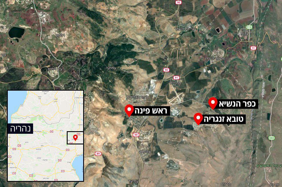 מפה מפות טובא זנגריה כפר הנשיא ראש פינה ()