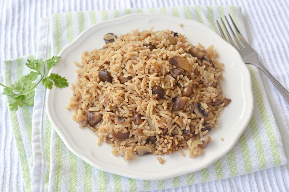 אורז עם ערמונים ופטריות (צילום: אפרת סיאצ'י)