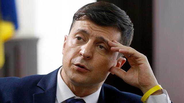 אוקראינה וולודימיר זלנסקי קומיקאי רץ לנשיאות בדרך להיות נשיא (צילום: AP)