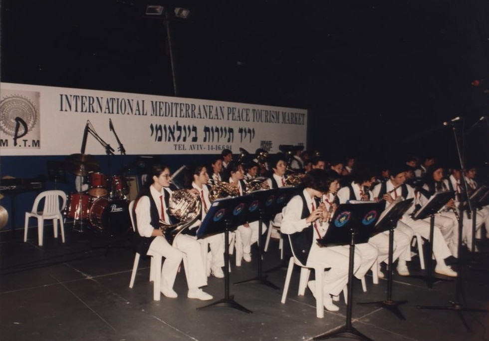 תזמורת מלווה בתערוכת התיירות (האדיבות אייל שמואלי)