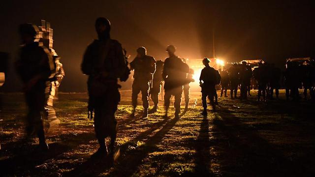 תרגיל חטיבתי של חטיבת גבעתי (צילום: דובר צה
