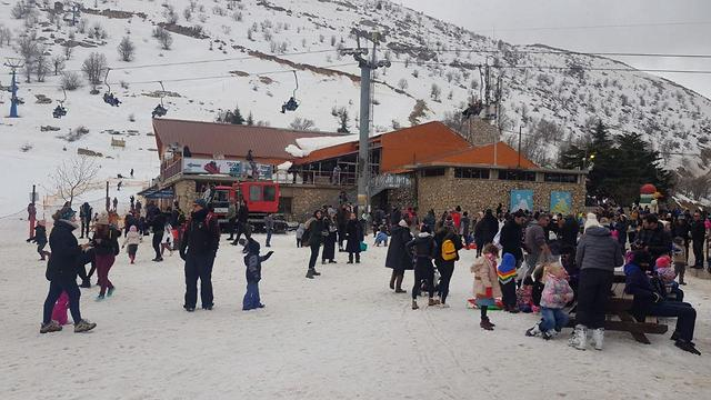 The Hermon ski resort on the Golan Heights