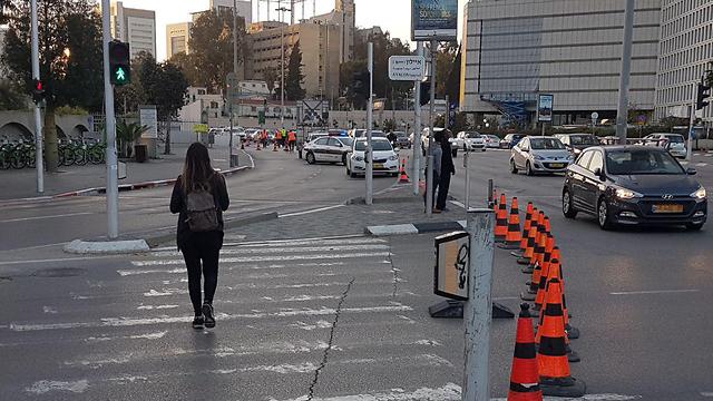 Перекрытие дорог из-за работ. Фото: Моти Кимхи