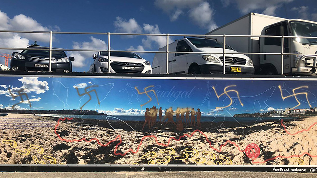 Swastikas graffitied in the Bondi neighborhood