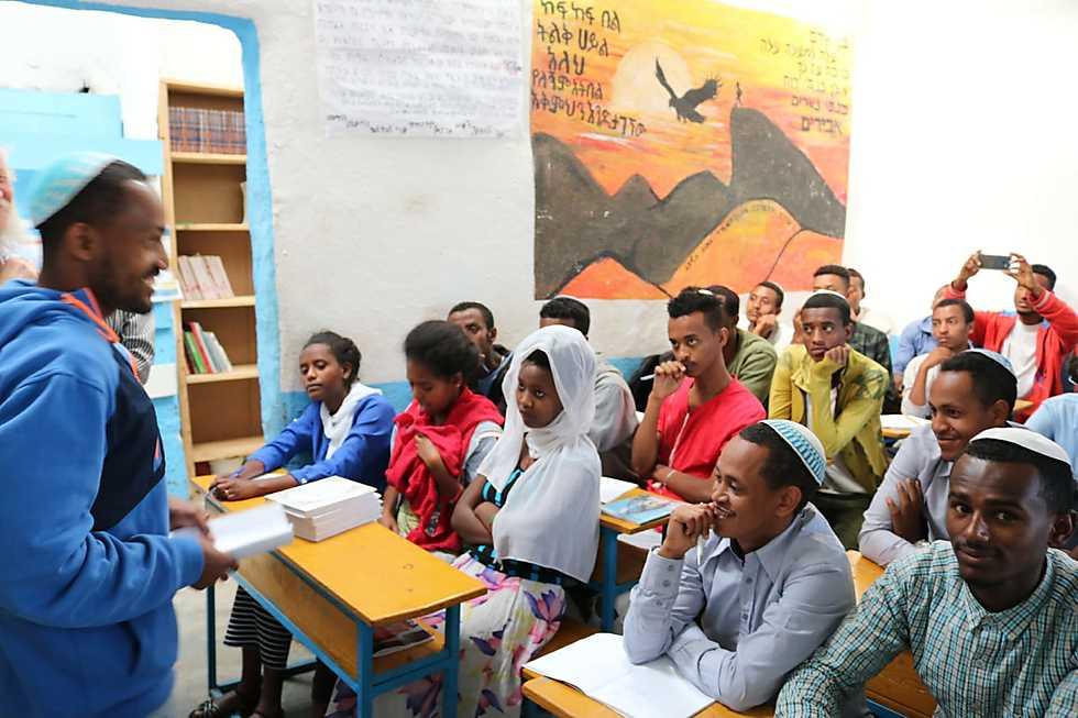 В школе для ожидающих разрешения на репатриацию в Израиль