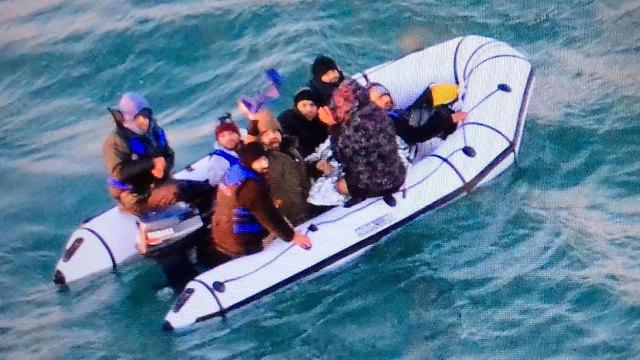 A boat of migrant crossing the English Channel (Photo: AFP)
