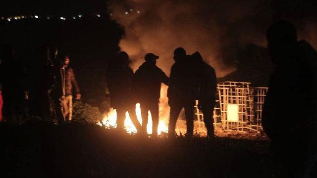 Night time clashes east of Jabalia